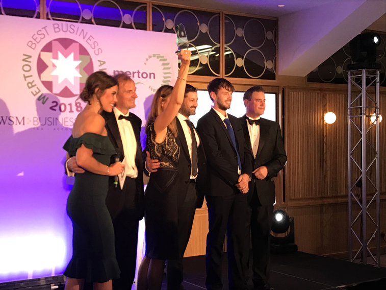 Art Division the Best Business Under 50 Employees Award Winner 2018 - Art Division triumphs in Best Business under 50 Employees category at this year's Merton Awards