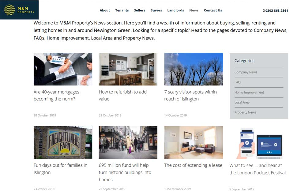 M and M Property News Feed - How to use content marketing to grow your property business?