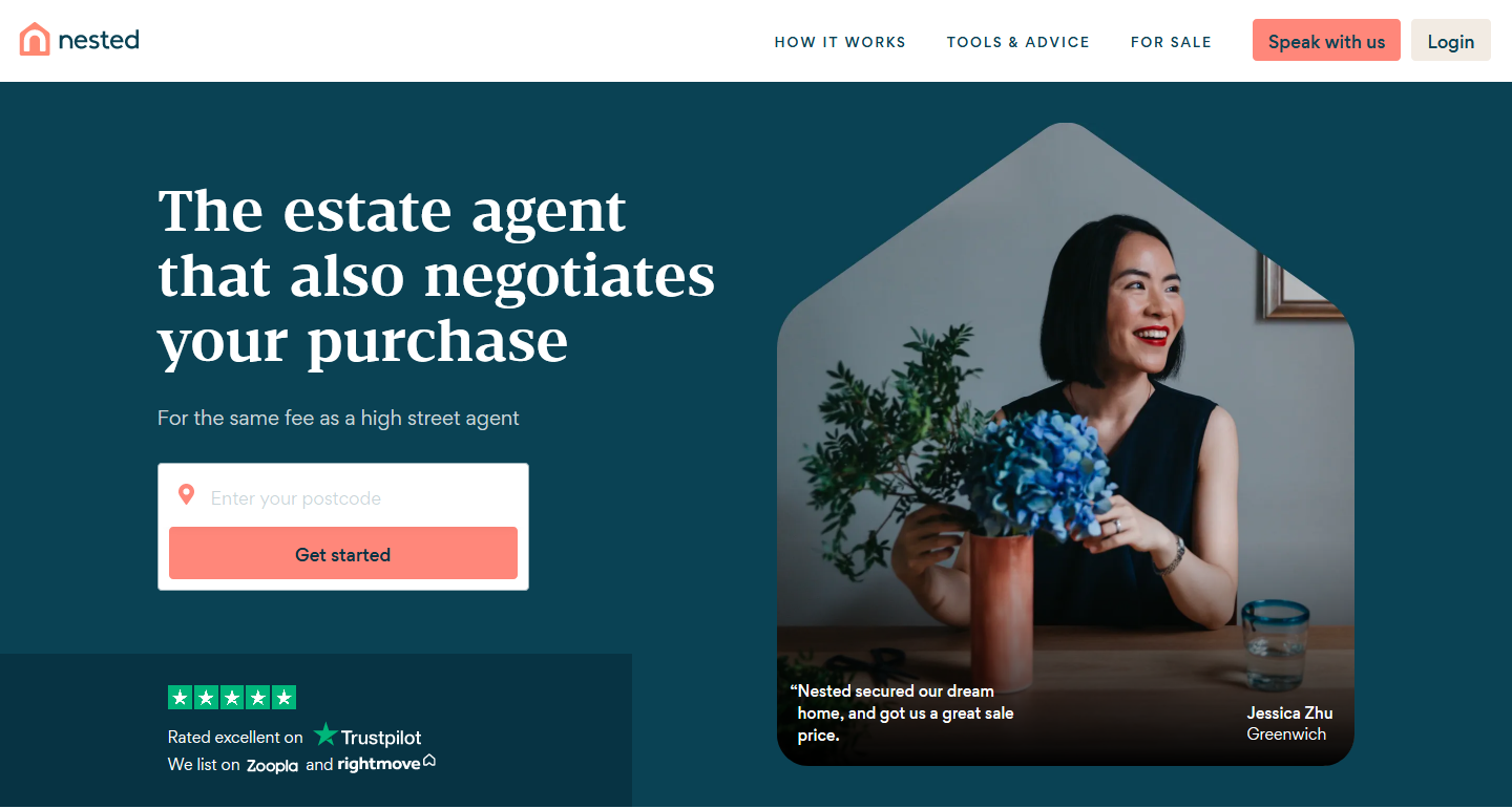 Nested - 20 Best Estate Agents & Letting Agents Website Designs To Use For Inspiration