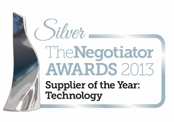 Silver Supplier TechnologyOTY original - Silver Award at the Negotiator Awards 2013