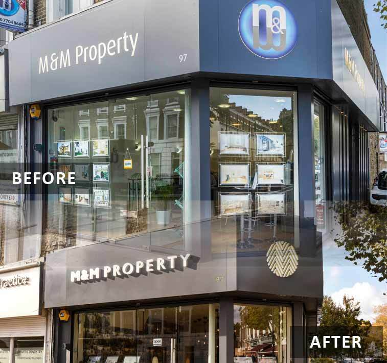before and after MM shop f - Is your business ripe for a rebrand?