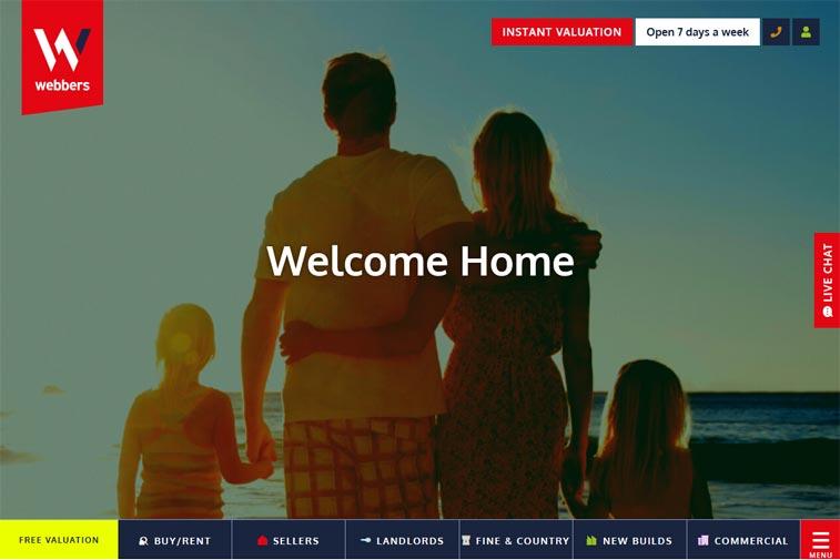 webbers estate agents websi - 20 Best Estate Agents & Letting Agents Website Designs To Use For Inspiration